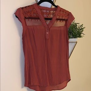 Sheer Crochet style Blouse